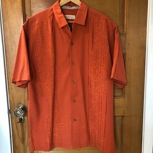 Tommy Bahama men's button down embroidered shirt
